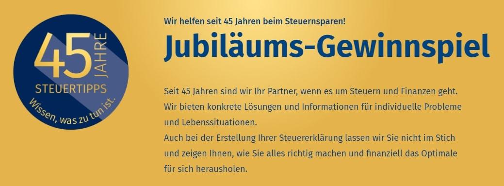 Jubiläums-Gewinnspiel